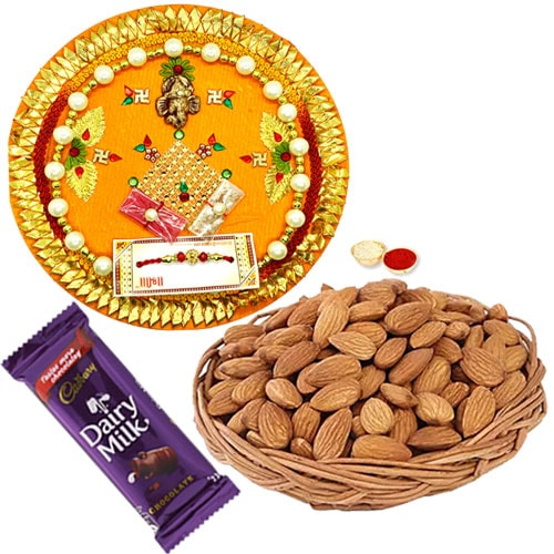 Dainty Rakhi Thali Set