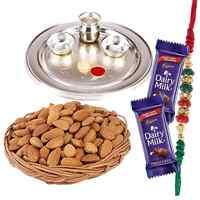 Illuminating Rakhi Thali Gift Set