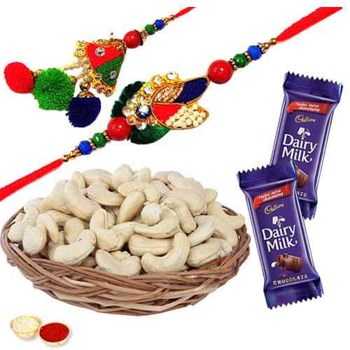 Crazy for Cashew Bhaiya Bhabhi Rakhi Gift Combo