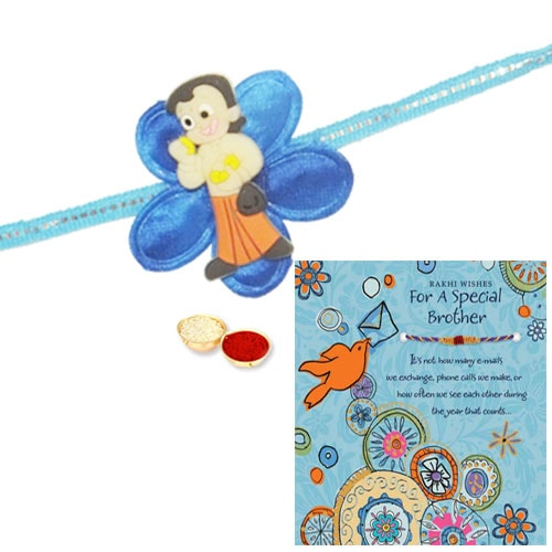 Kids favorite Chota Bheem Rakhi With Beautiful Rakhi Card