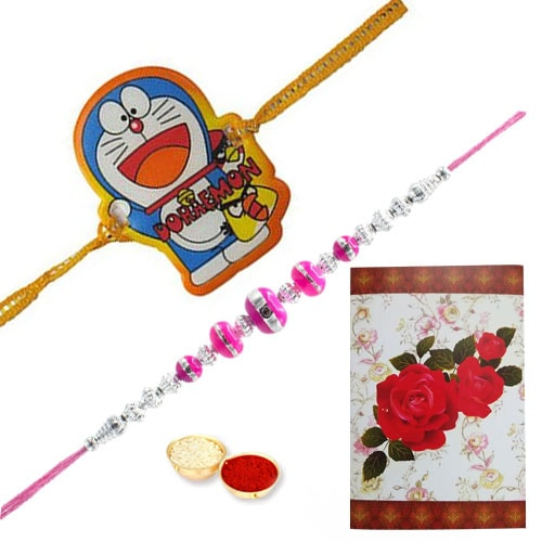 Enchanting Kids Rakhi Combo