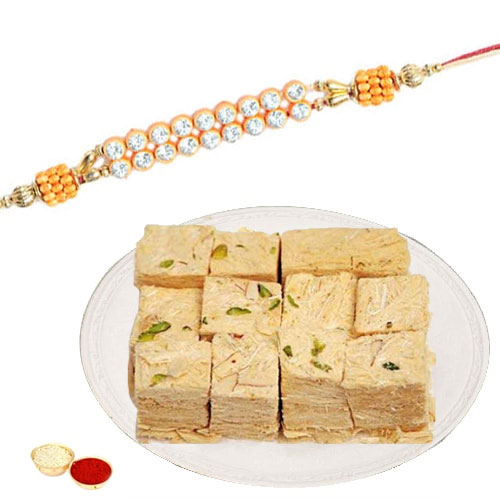 Irresistible Patisha Pack of 500 gm with 1 Rakhi