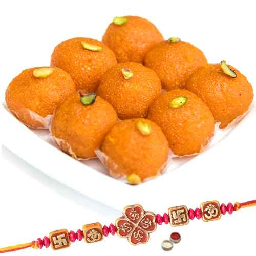 1 Rakhi with Boondi Ladoo