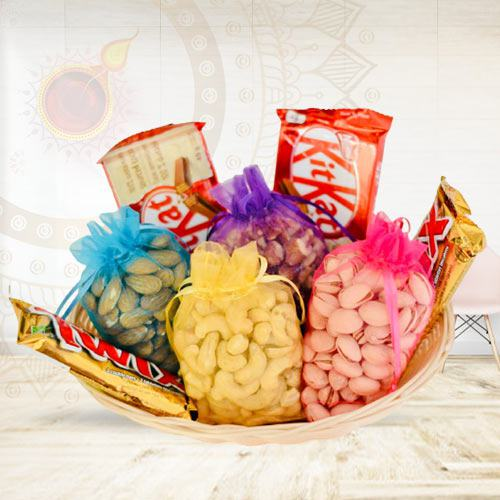 Finest Selection of Dry-fruits with Chocolate Assortment