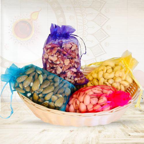Lavish Dry Fruits Assortments with Laxmi Ganesh Idol