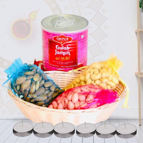 Tasty Gulab Jamun N Dry Fruits Combo <br>