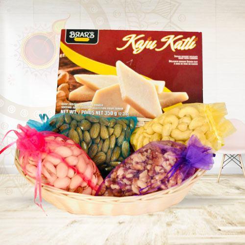 Remarkable Kaju Katli with Mixed Dry Fruits<br>