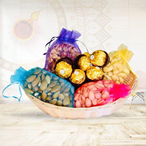 Marvelous Ferrero Rocher N Dry Fruits Gift Hamper<br>