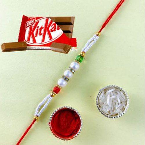 Fantastic Rakhi with Kitkat Chocolates