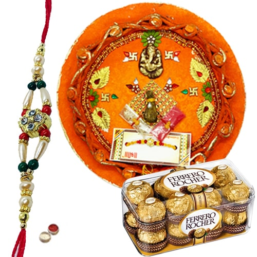 Exotic Celebration Special Rakhi Gift<br /><font color=#0000FF>Free Delivery in USA</font>
