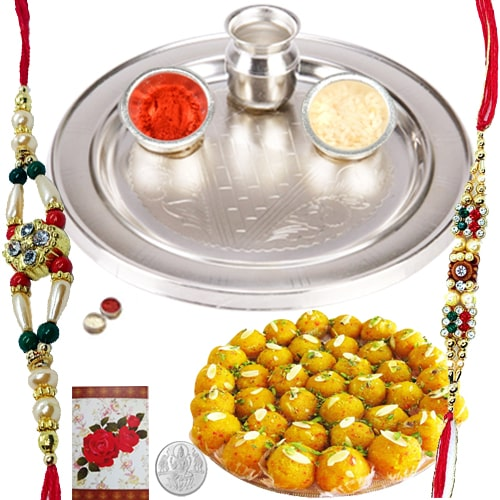 Eye-Catching Rakhi Gifts with Elegance<br /><font color=#0000FF>Free Delivery in USA</font>