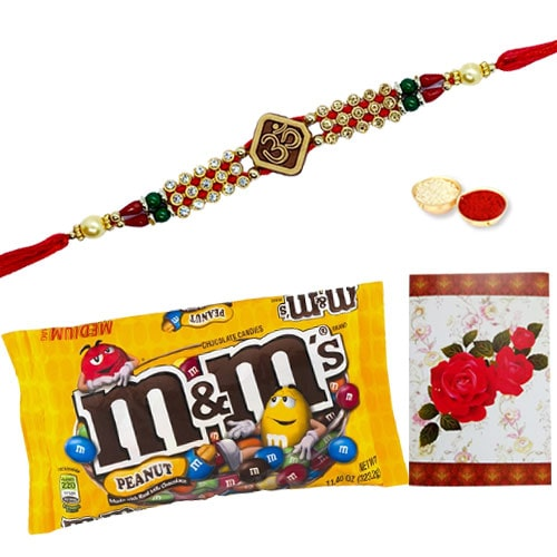 Amazing Ethnic Rakhi and Chocolates with Love<br /><font color=#0000FF>Free Delivery in USA</font>