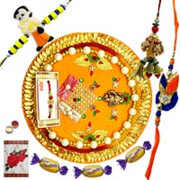 Scintillating Kids and Bhaiya Bhabhi Rakhi with Thali