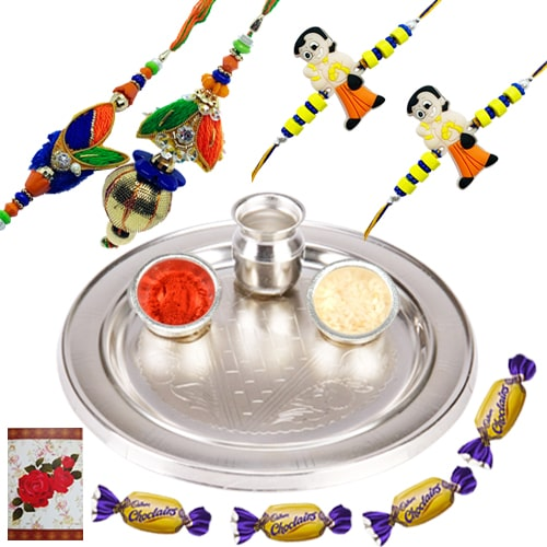 Exclusive Rakhi Gift of Love and Happiness<br /><font color=#0000FF>Free Delivery in USA</font>