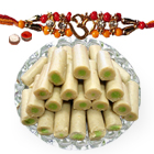 One or More Designer Ethnic Rakhi with 500 Gms. Kaju Pista Roll<br /><font color=#0000FF>Free Delivery in USA</font>