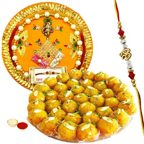 Mesmerizing Rakhi Gift with Good Wishes<br /><font color=#0000FF>Free Delivery in USA</font>