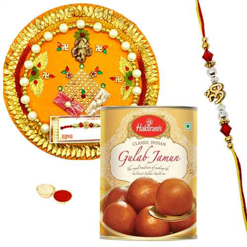 Yummy Haldiram Gulam Jamun with Cool Rakhis<br /><font color=#0000FF>Free Delivery in USA</font>