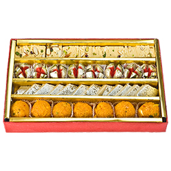 Irresistible 250 Gms. Assorted Sweets for Rakhi