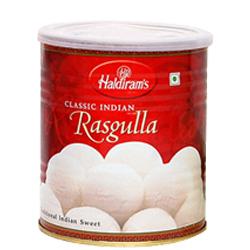Amazing 1 Kg. Haldirams Rasgulla Pack with Blessings