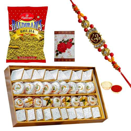 Glamorous Rakhi Loved Gift Hamper<br /><font color=#0000FF>Free Delivery in USA</font>