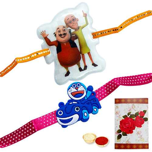 2 Kids Rakhi with Roli Tika<br /><font color=#0000FF>Free Delivery in USA</font>