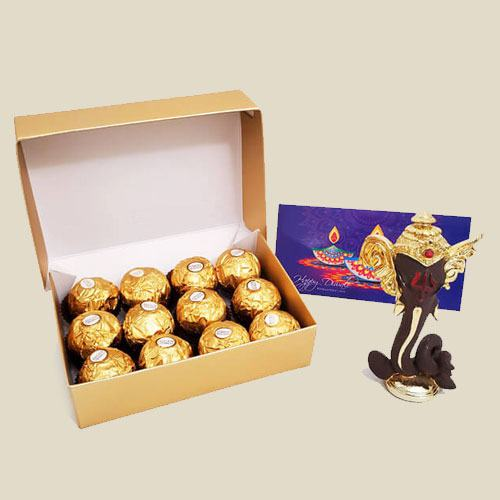 Yummy Ferrero Rocher Gift Box with Moulded Ganesha