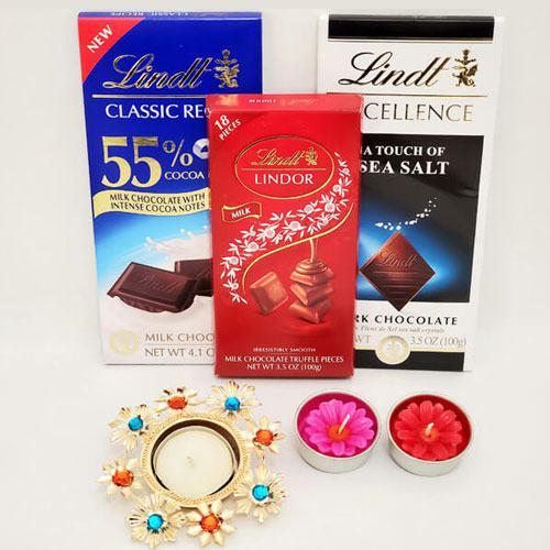 Finest Chocolicious Chocolate Hamper with Diyas