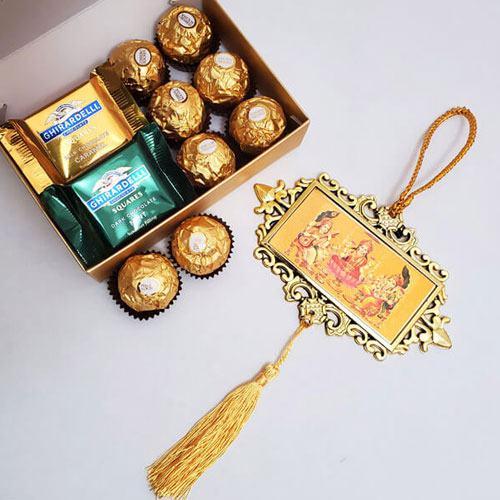 Irresistible Chocolate Gift Pack with Metallic Hanging