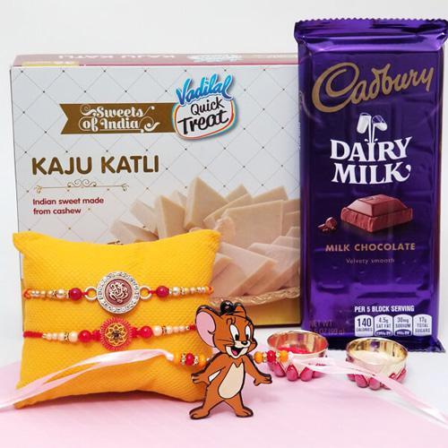 Jerry Rakhi Set with Kaju Katli & cadbury