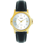 Designer Golden Coloured Round Dialed Gents Watch from Timex
