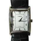 Amazing Fascinating Silver Coloured Rectangular Dialed Gents Watch Presented by Timex