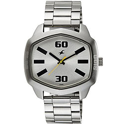 Superb Silver Dial Men's Watch from Fastrack