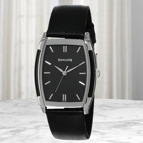 Exclusive Sonata Analog Mens Watch