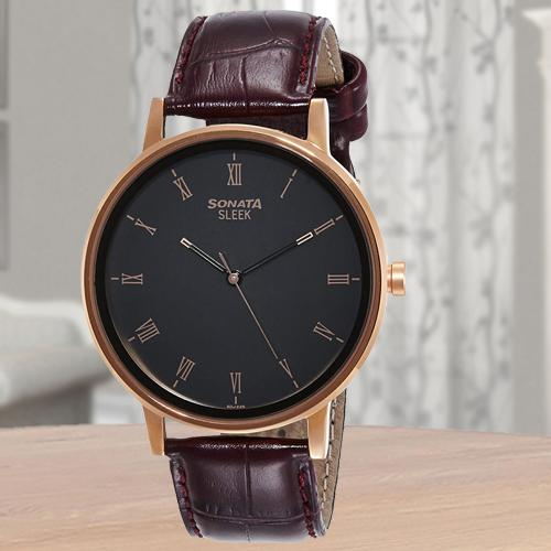 Remarkable Sonata Sleek Analog Mens Watch