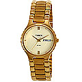 Magnificent round dial golden chain strap formal watch for gents from Timex