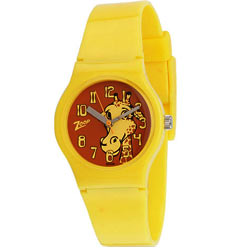 Enthralling Animal Printed Yellow Coloured Titan Zoop Kids Watch