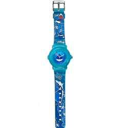 Charismatic Oceanic Printed Blue Coloured Watch for Kids Presented by Titan Zoop