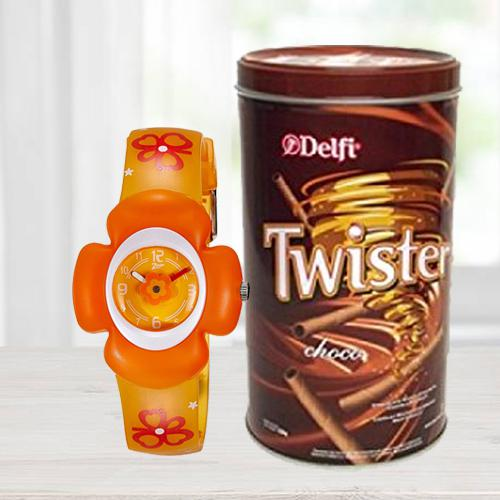 Marvelous Zoop Analog Watch N Delfi Twister Chocolate Wafer