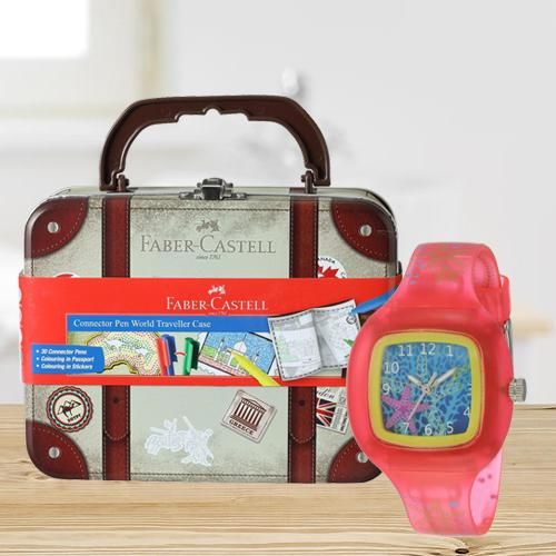 Marvelous Zoop Analogue Watch N Faber-Castell Colours Set