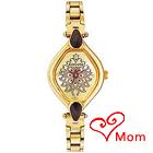 Designer Gold Metallic Wrist Watch for Ladies from Titan Sonata