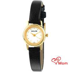 Casual watch in golden and black combination for ladies from Titan Sonata