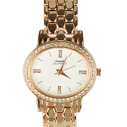 Trendy Round Dial Fashion Wrist Watch for Women