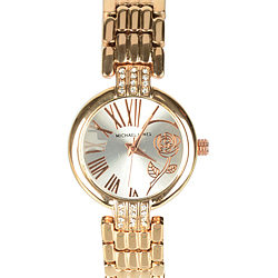 Eye-catching Gift of Ladies Delight Golden Wrist Watch