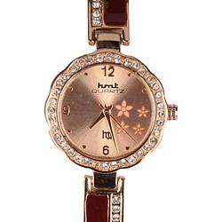 Rose Gold & Maroon Coloured Fancy Wrist Watch for Women