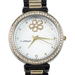 A Blackish Gold Womens Watch embellished with American Diamonds