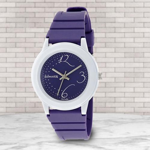 Marvelous Sonata Fashion Fibre Analog Womens Watch