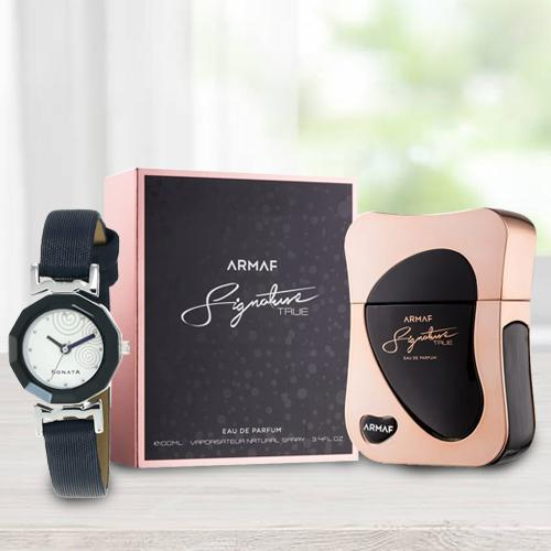 Wonderful Sonata Analog Womens Watch N Armaf Perfume