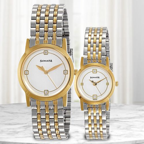 Exclusive Sonata Analog Pair Watch