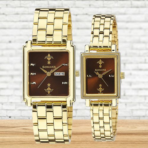 Wonderful Sonata Analog Couple Watch