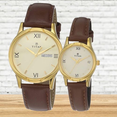 Marvelous Titan Analog Pair Watch